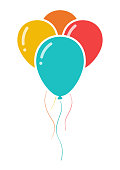 Party balloons icon isolated on white background. Vector illustration