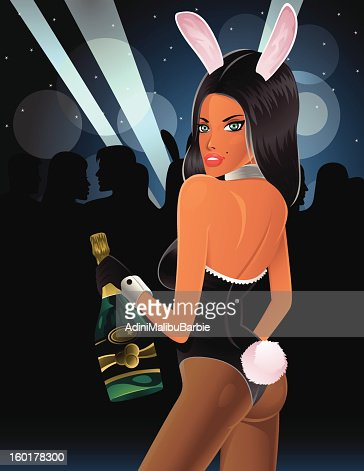 Bunny Girl at the Party : Vectorkunst