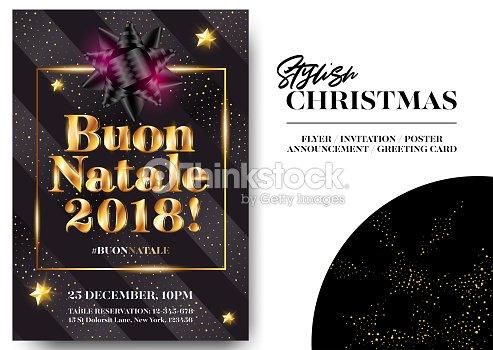 stylish black greeting card design vector elegant invitation template xmas celebration dark background with shining text and gold glitter stripes