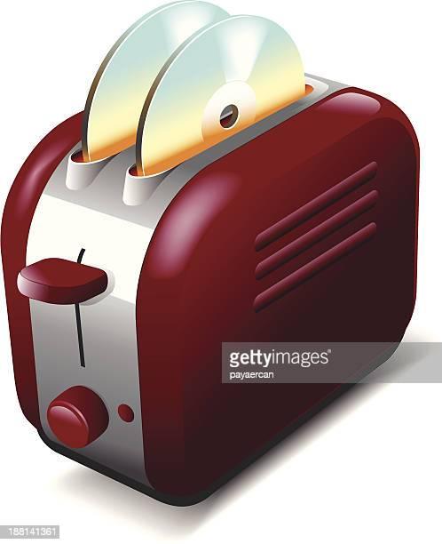 DVD burning toaster