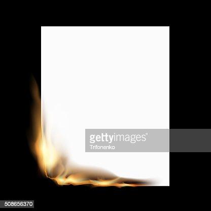 Burning white sheet : Vector Art