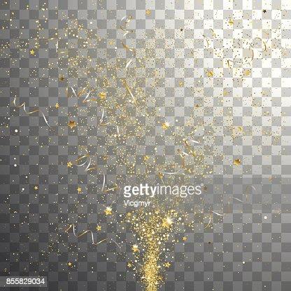 Éclater les confettis or festif : clipart vectoriel