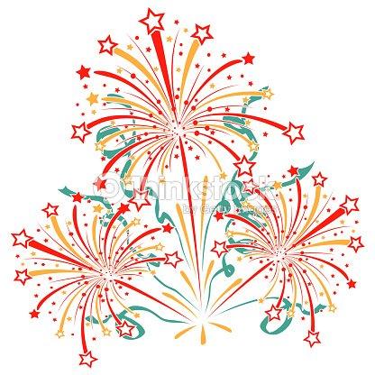 Explosion feux dartifice avec guirlande et cotillons et brille clipart vectoriel thinkstock - Image cotillons fete ...