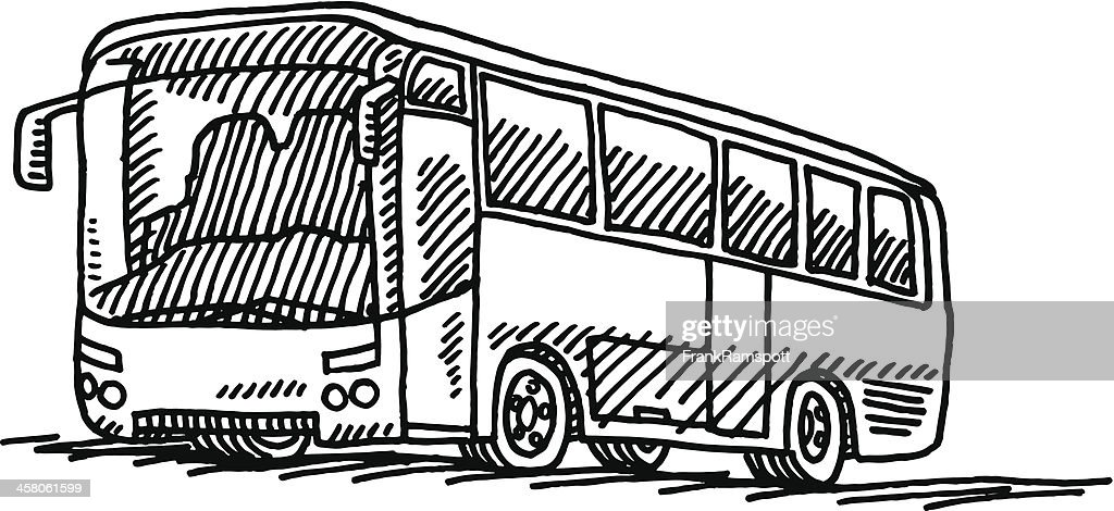 Dessin de transport en bus clipart vectoriel getty images - Dessin d un bus ...