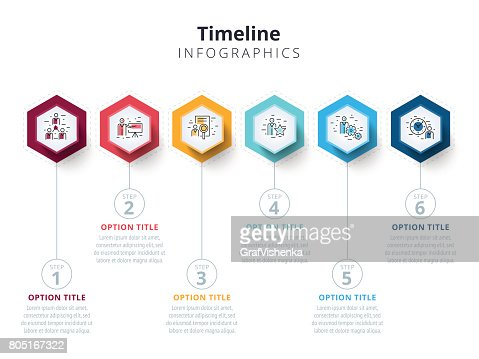 Business 6 step process chart infographics with step circles. Bright corporate graphic elements. Company presentation slide template. Modern vector info graphic layout design. : stock vector