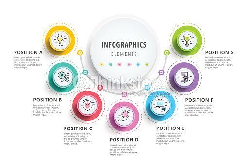 Business 7 step process chart infographics with step circles business 7 step process chart infographics with step circles circular corporate graphic elements company ccuart Images