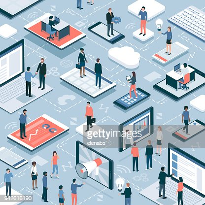 Business and communications : stock vector