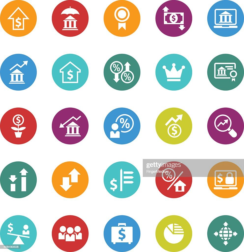Finance Icon Set: Business And Finance Icon Set Vector Art