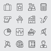 Business and Finance line icon