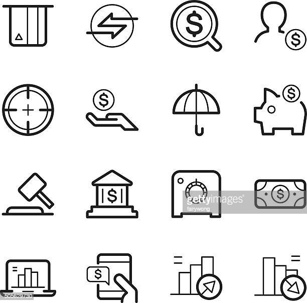 business and finances icons