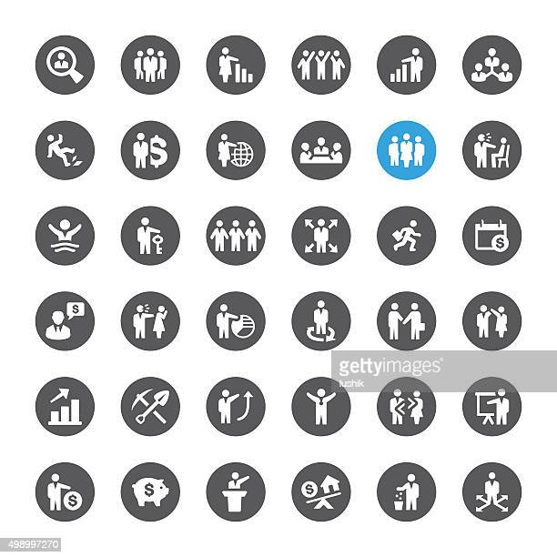 Business und Human Resources ähnliche Vektor-icons