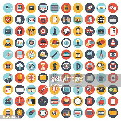 Business and management icon set for websites and mobile applications. Flat vector illustration : stock vector