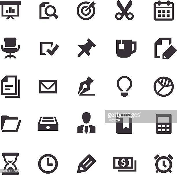 Icone di affari e ufficio-Serie intelligente