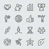 Business and Success line icon