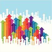 business arrow, success in business concept