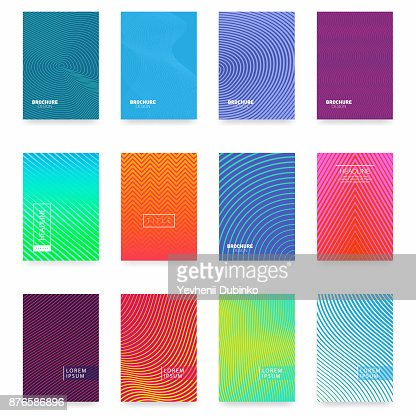 Business brochure cover design. Abstract geometric template. Set of minimal covers design : Vector Art