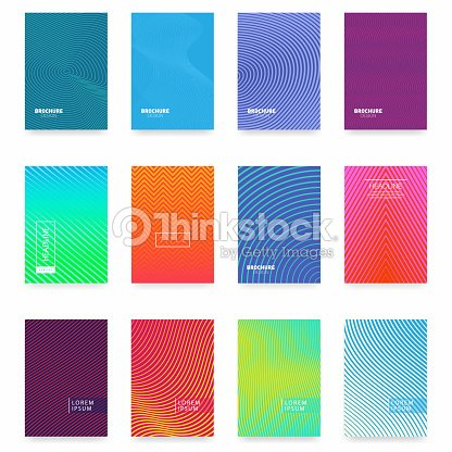 Business brochure cover design. Abstract geometric template. Set of minimal covers design : stock vector