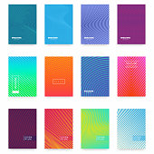 Business brochure cover design. Abstract geometric template. Set of minimal covers design. Vector
