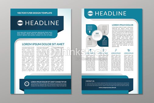 Business Brochure Flyer Layout Template A Size Vector Art - Brochure flyer templates