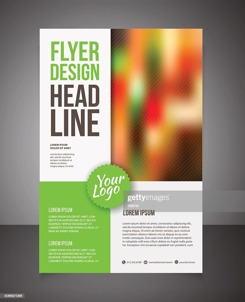 Business Brochure Or Offer Flyer Design Template. : Vector Art
