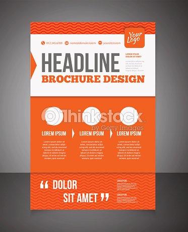 Business Brochure Or Offer Flyer Design Template Vector Art Thinkstock