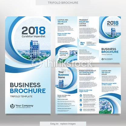 Business Brochure Template In Tri Fold Layout Vector Art Thinkstock
