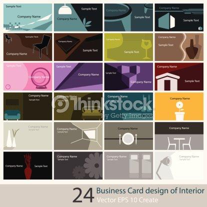 Carte De Visite Design Interieur Clipart Vectoriel
