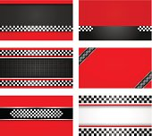Business card set - Rally driver templates.