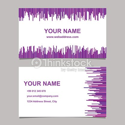 Business card template design set vector name card graphic with business card template design set vector name card graphic with rounded stripes in purple tones reheart Images