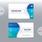 Business card template, modern abstract design.