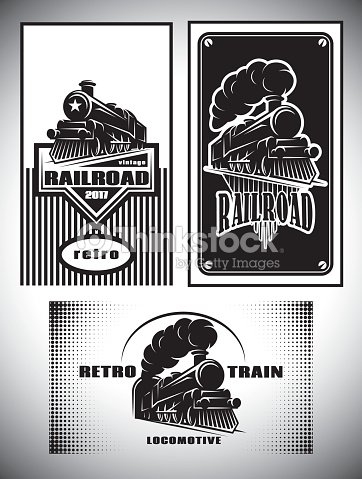 Business card template set vintage steam train old retro railroad business card template set vintage steam train old retro railroad vector art reheart Gallery