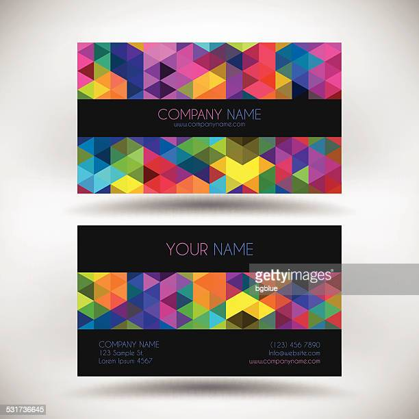 Business Card Template with abstract geometric Background