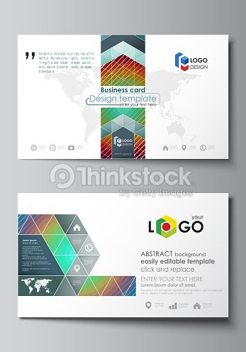 Business card templates easy editable layout abstract vector business card templates easy editable layout abstract vector template minimalistic design with circles friedricerecipe Gallery