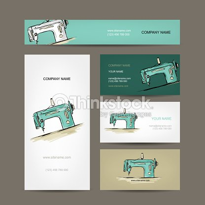 Business cards design sewing maschine sketch vector art thinkstock business cards design sewing maschine sketch vector art colourmoves