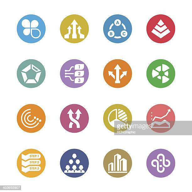Business Chart Icon Set | Multicolor Series