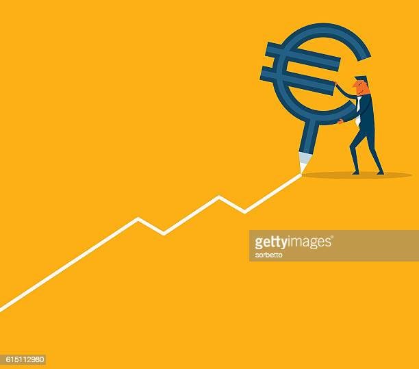 Business chart with Euro symbol