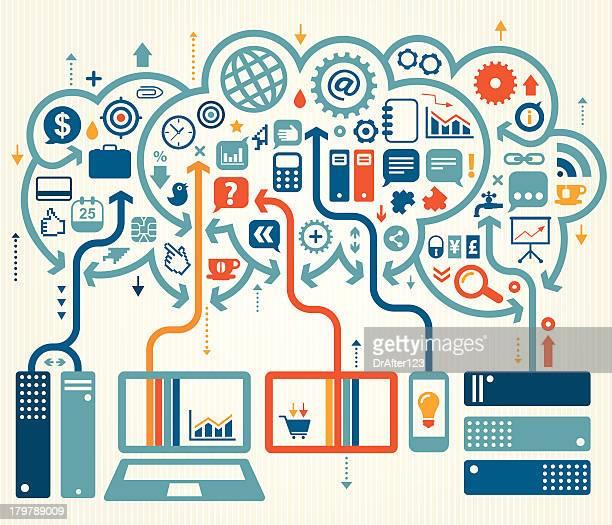 Business Cloud Storage Concept