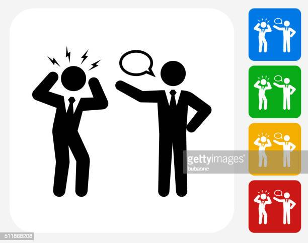 Business Communication Icon Flat Graphic Design