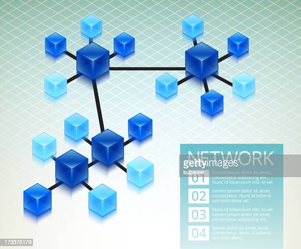 Business Computer Network Infographic Background