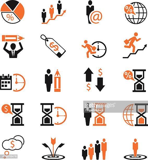 Iconos de concepto de negocios