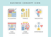 Business concept illustration icons for website, web, blog, presentation, etc.