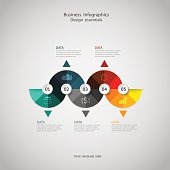 Business concept infographic step to successful,vector illustration