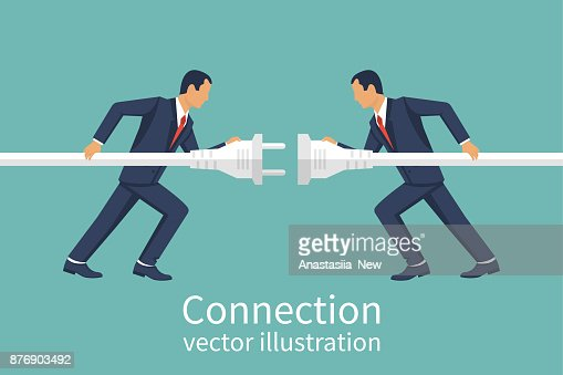 Business connection concept : stock vector