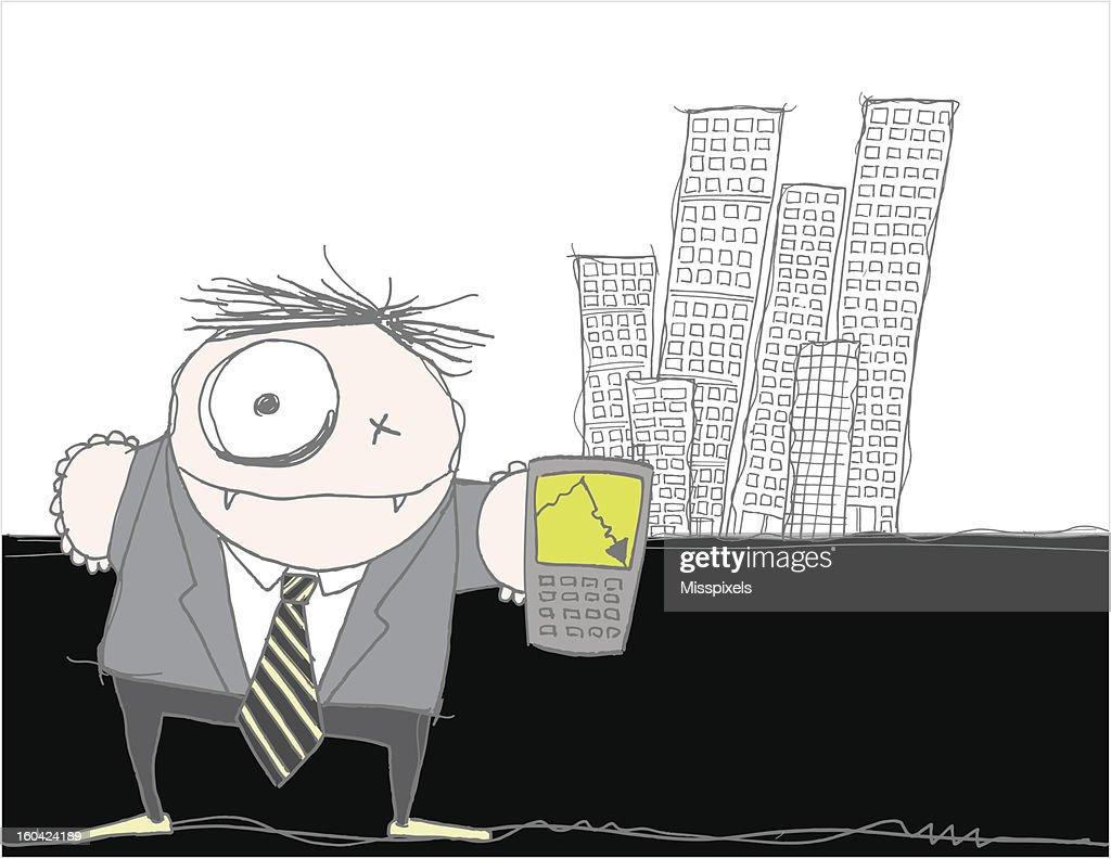 business crash : Vector Art