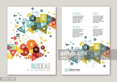 Business design on paper : Vector Art