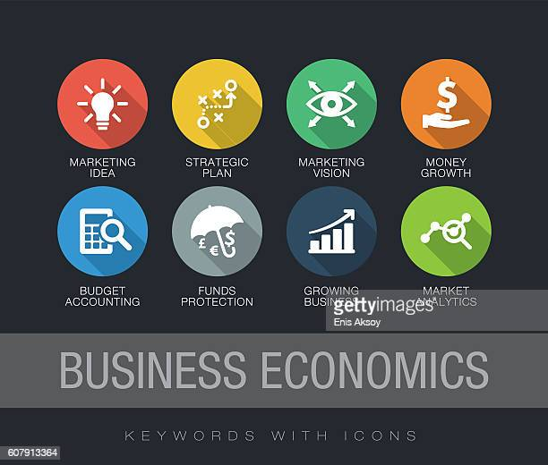 Business Economics keywords with icons
