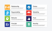 Business Ethics Infographic Icon Set
