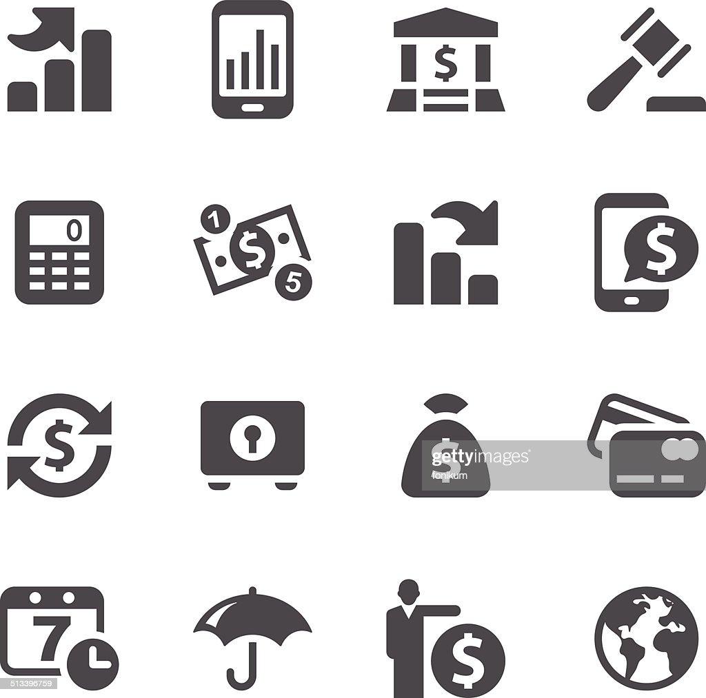 Business Finance: Business Finance Icons Vector Art