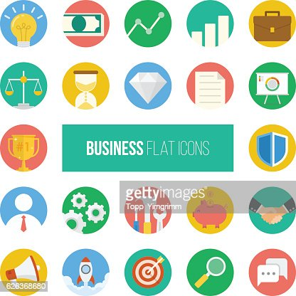 Business Flat Icons. : Vector Art