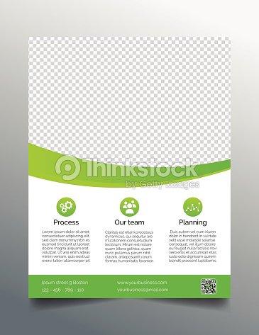business flyer template simple sleek design in bright green vector
